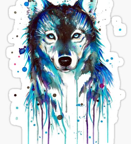 Blue Wolf Sticker