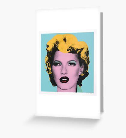 Banksy - Kate Moss Greeting Card