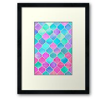 Bright Moroccan Morning - pretty pastel color pattern Framed Print