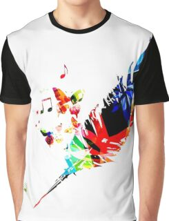 Feather Music Graphic T-Shirt