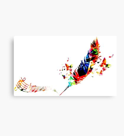 Feather Music Canvas Print