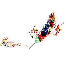 Feather Music Photographic Print