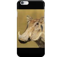Hitching a Ride - Warthog and Starling - Wild Africa iPhone Case/Skin
