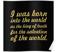 "I was born... ""Buddha"" Inspirational Quote Poster"