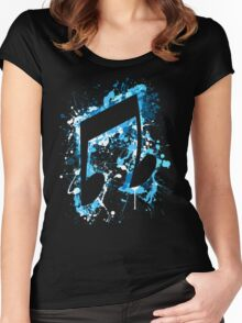 DJ Pon-3 CM Splatter Women's Fitted Scoop T-Shirt