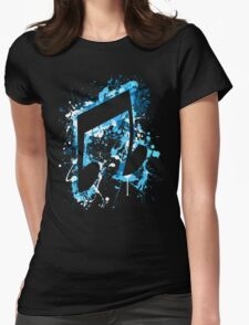 DJ Pon-3 CM Splatter Womens Fitted T-Shirt
