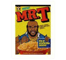 1980's Mr. T Cereal- original mosaic design cereal shaped.  Art Print