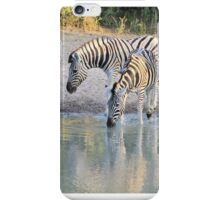 Zebra Reflection - Beautiful African Wildlife iPhone Case/Skin