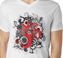 Omn Doodle Mens V-Neck T-Shirt