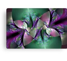 Crystal leaves Canvas Print