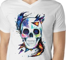 Cool Skull Mens V-Neck T-Shirt