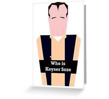 Verbal Kint Greeting Card