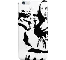 Banksy - Mona Lisa Bazooka iPhone Case/Skin