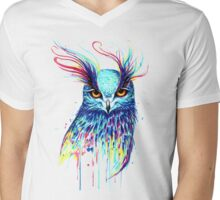 Mystical Owl Mens V-Neck T-Shirt