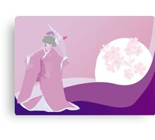 Origami Princess Moon Canvas Print