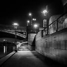 South Bank at Night  by Christine Wilson