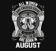 All Women legend are born in august Womens Fitted T-Shirt