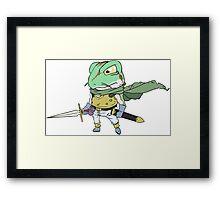Chrono Trigger Frog Framed Print