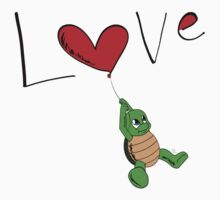 Turtle Red Heart Kids Clothes