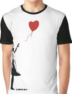 Banksy - Girl with Balloon Graphic T-Shirt