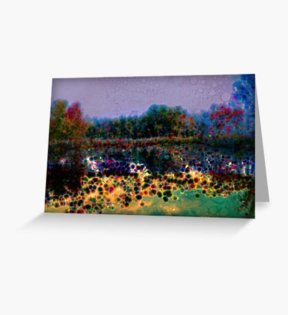 Beautiful abstract landscape Greeting Card