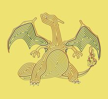 Ornate Charizard Kids Clothes