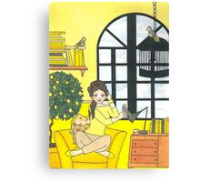 Lemon Yellow Canvas Print