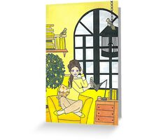 Lemon Yellow Greeting Card