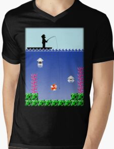 Mario Fishing Mens V-Neck T-Shirt