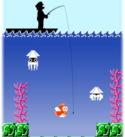 Mario Fishing Sticker