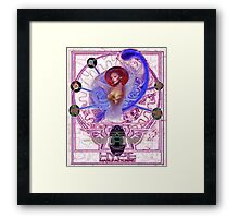 The All New Collaged Bra Hyper Digital Version. Framed Print