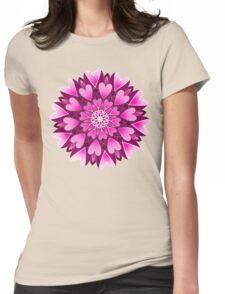 pink hearts mandala Womens Fitted T-Shirt