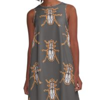 beetle, scarab, tattoo t-shirt A-Line Dress