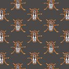 beetle, scarab, tattoo t-shirt by resonanteye