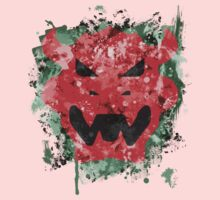 Bowser Emblem Splatter Kids Clothes