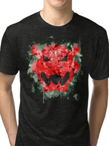 Bowser Emblem Splatter Tri-blend T-Shirt