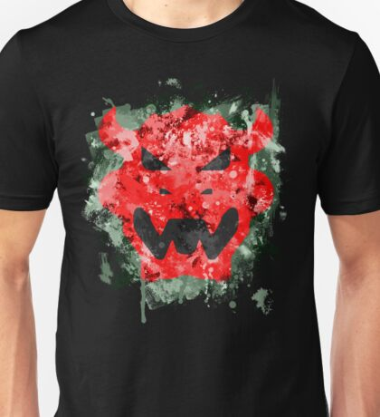 Bowser Emblem Splatter Unisex T-Shirt