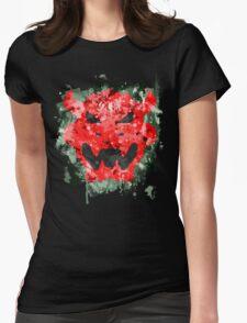 Bowser Emblem Splatter Womens Fitted T-Shirt