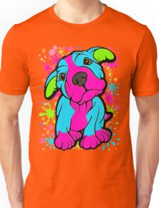Colourful Pit Bull Puppy  Unisex T-Shirt