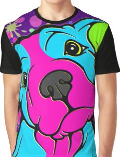 Colourful Pit Bull Puppy  Graphic T-Shirt