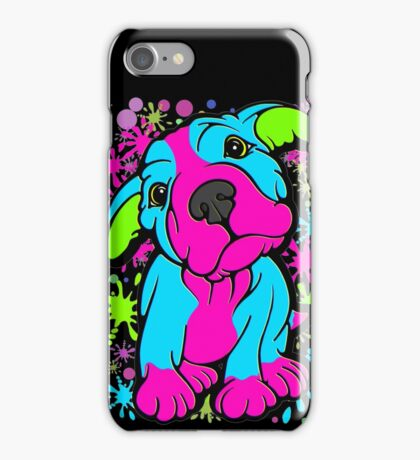 Colourful Pit Bull Puppy  iPhone Case/Skin