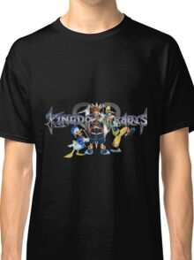 Kingdom Hearts - Sora, Donald, Goofy with logo Classic T-Shirt
