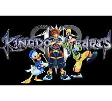Kingdom Hearts - Sora, Donald, Goofy with logo Photographic Print