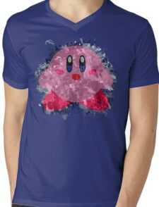 Kirby Splatter Mens V-Neck T-Shirt