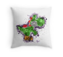 Yoshi Splatter Throw Pillow