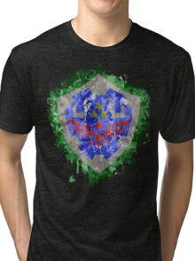 Hylian Shield Splatter Tri-blend T-Shirt