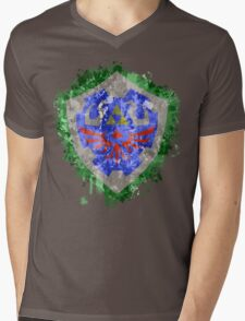 Hylian Shield Splatter Mens V-Neck T-Shirt