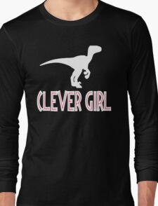 Jurassic Park Quote - Clever Girl Long Sleeve T-Shirt
