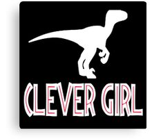 Jurassic Park Quote - Clever Girl Canvas Print