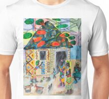 African woman decorating her home (Often I dream about Africa, part 3 ) Unisex T-Shirt